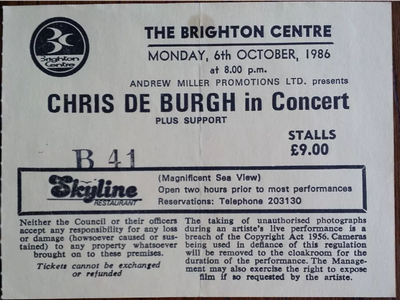 Chris De Burgh@ Brighton